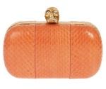 A McQueen Skull Clutch Orange