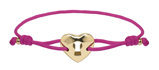 Heart Friendship Bracelet - Hot Fuchsia - this is not new, I just really like it...