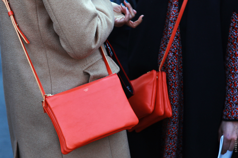 celine red trio bag