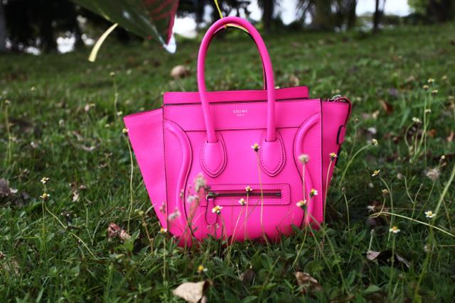 celine micro pink